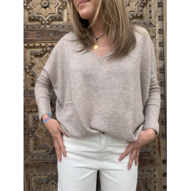 PULL CAMILLE TAUPE CHINE